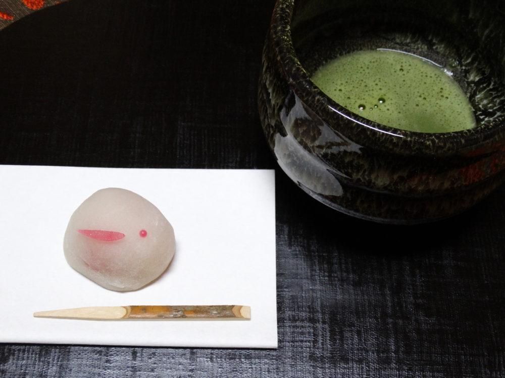 うさぎ餅とお抹茶